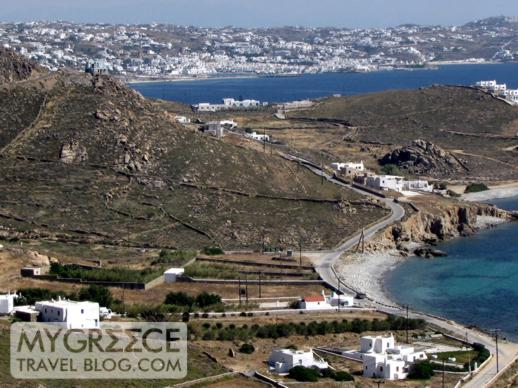 Mykonos Town viewed from the northwest