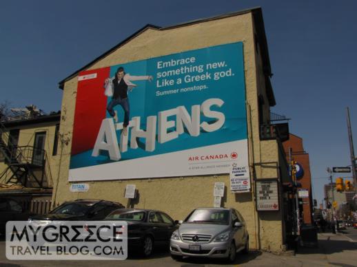 Air Canada Greece travel billboard