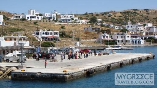 the port village on Lipsi