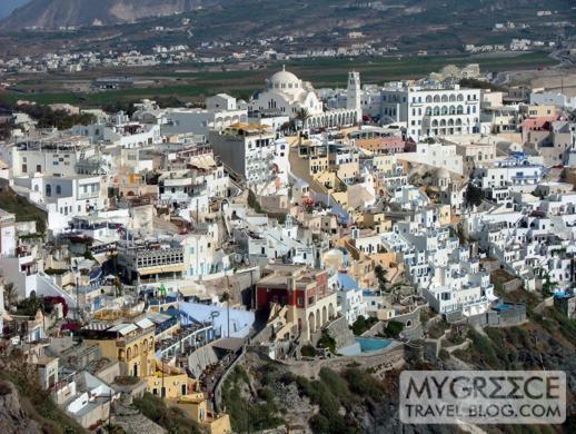 Fira village on Santorini