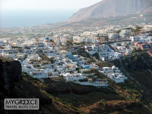 Firostefani village on Santorini