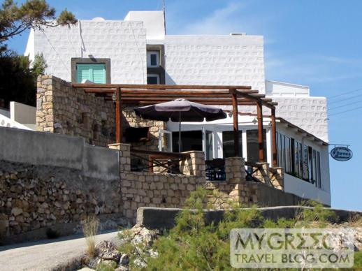 Flisvos taverna at Grikos Bay on Patmos
