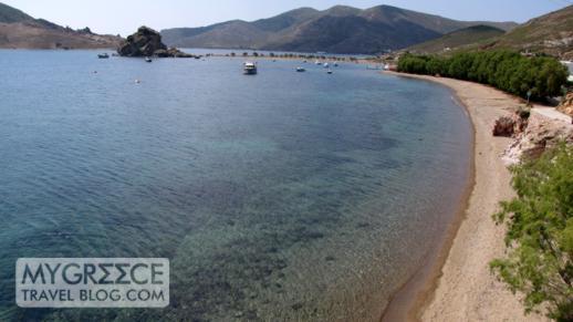 Grikos beach and bay