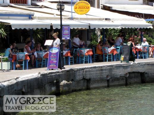 Harbourside tavernas in Kokkari on Samos