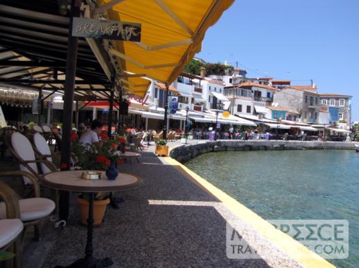 Harbourside tavernas in Kokkari on Samos