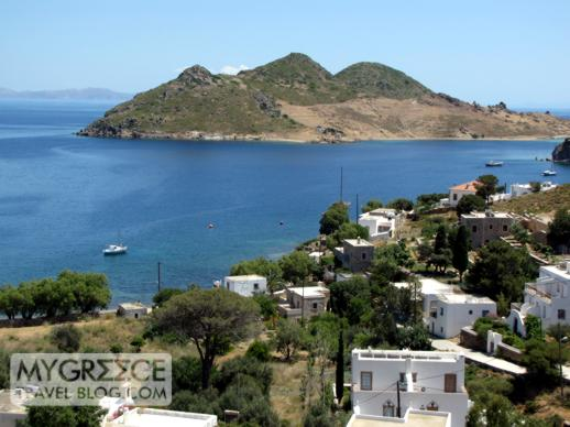 Hotel Golden Sun view of Grikos Bay on Patmos