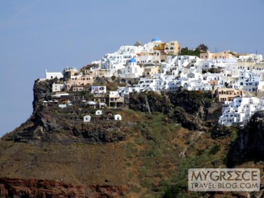 Imerovigli village on Santorini