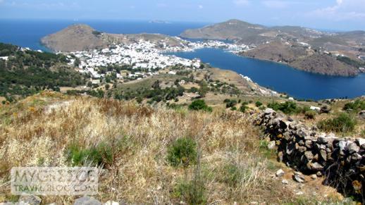 Skala port and village on Patmos