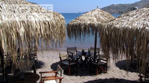 Meltemi beach bar in Skala Patmos