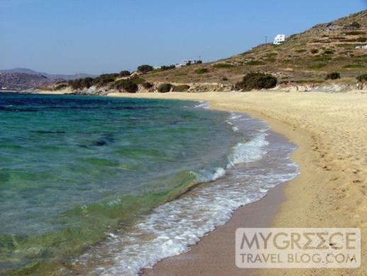 Mikri Vigla beach on Naxos island