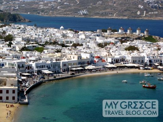 Mykonos Town and harbour