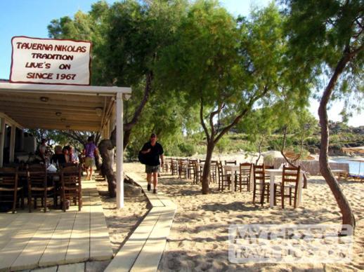 Nicholas taverna at Agia Anna beach