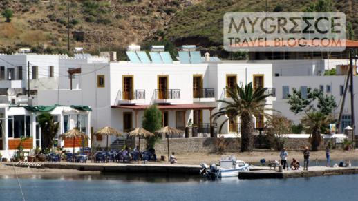 Oasis taverna at Grikos bay on Patmos