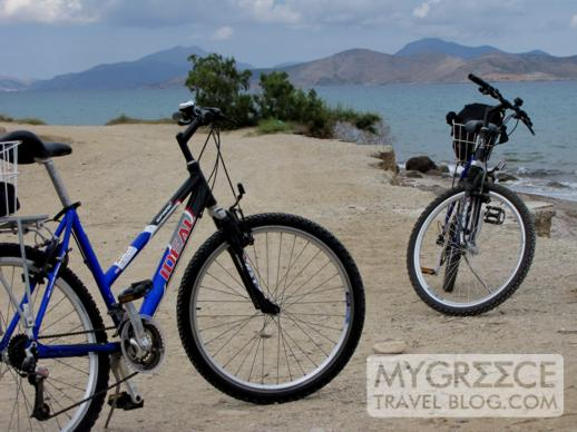 The bicycles we rented to explore Kos