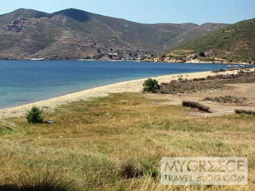 Petra beach and bay on Patmos