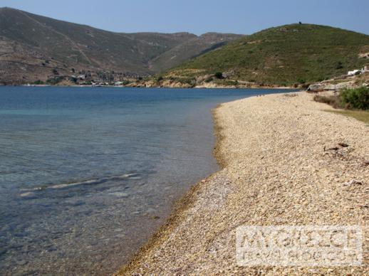 Petra beach and bay on Patmos