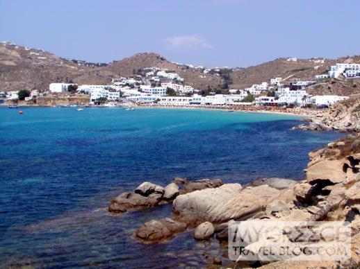 Platis Gialos beach and bay