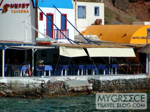 Sunset Taverna at Amoudi Bay on Santorini
