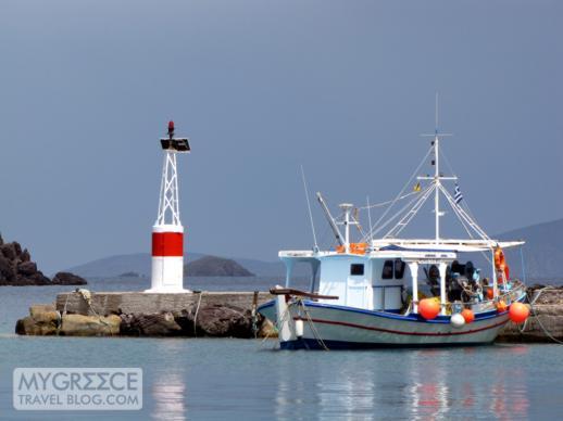 Skala harbour on Patmos