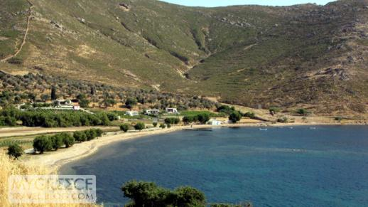 Stayrou beach and bay on Patmos