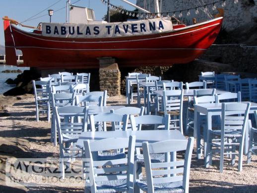 Babulas Taverna in Mykonos Town