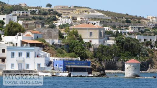 Taverna Milos at Agia Marina port on Leros