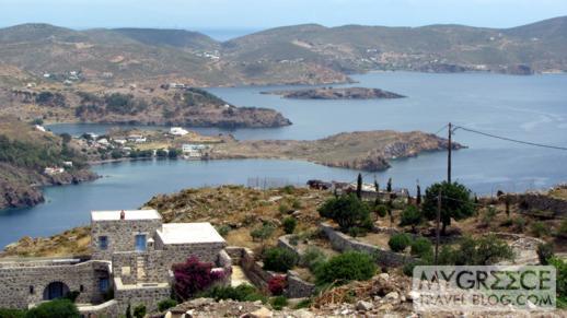 Aspri and Meloi bays on Patmos