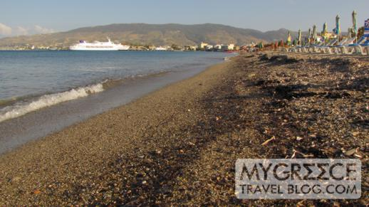one of the beaches near Kos Town