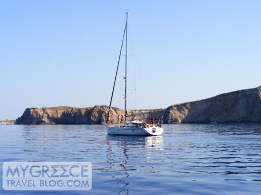 sailing at Milos