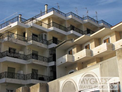 apartments at Roditses beach
