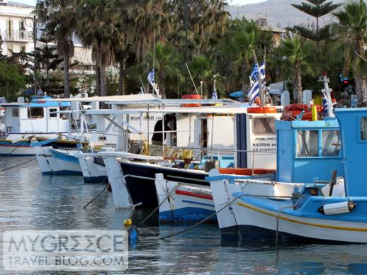 fishing boats in Kos Town harbour