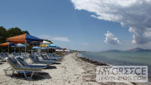 one of the sandy beaches near Tigaki
