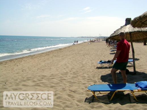 the beach at Ammoudara Crete
