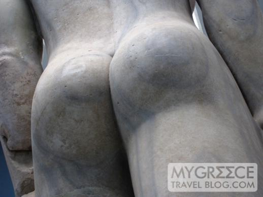 the butt of the Colossal Kouros