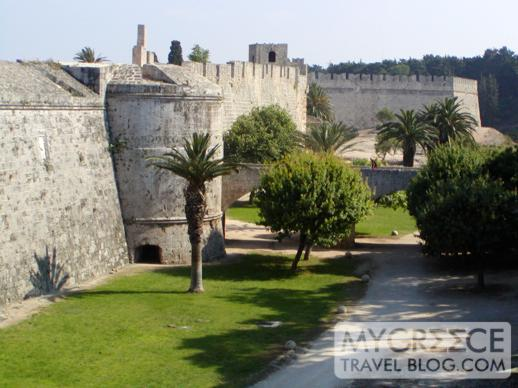 The medieval castle in Rhodes Town