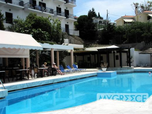 Andromeda Hotel swimming pool and cafe