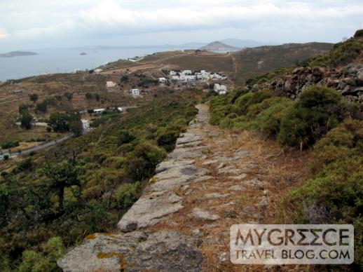a mountain trail on Patmos