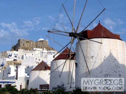 Windmills at Chora on Astipalea
