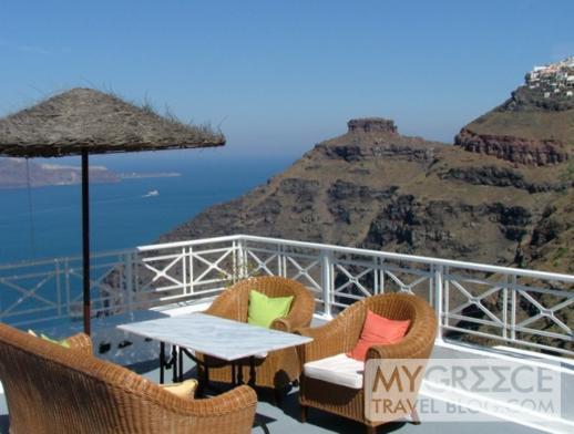 a terrace at Grotto Villas/Cliffside Suites