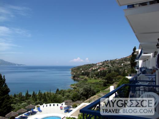 Andromeda Hotel Samos seaview balconies