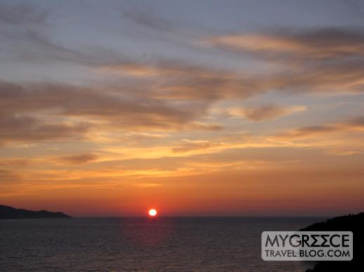 Andromeda Hotel Samos sunset view