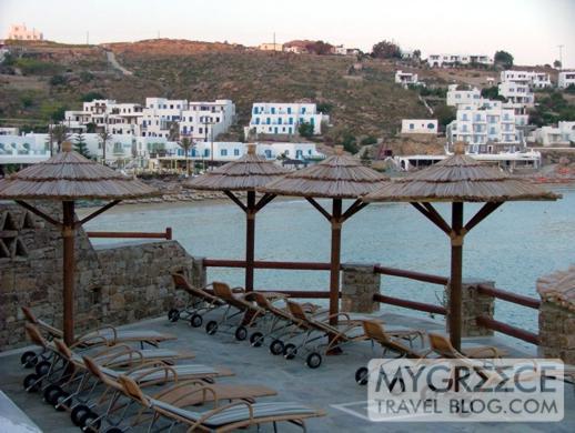 Petasos Beach Resort swimming pool terrace