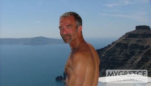 Donny B in Santorini