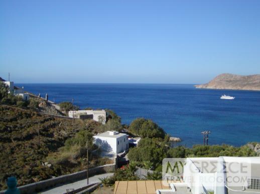 Myconian Imperial Resort & Villas hotel room view of Elia Bay
