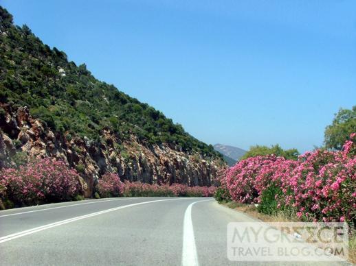 Main highway in Crete