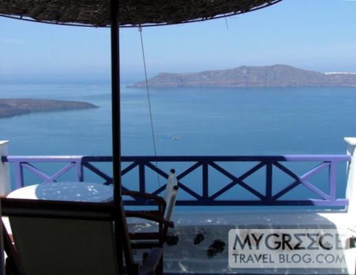 Grotto Villas Room 110 balcony view