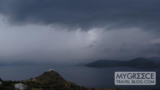 thunderstorm over western Milos