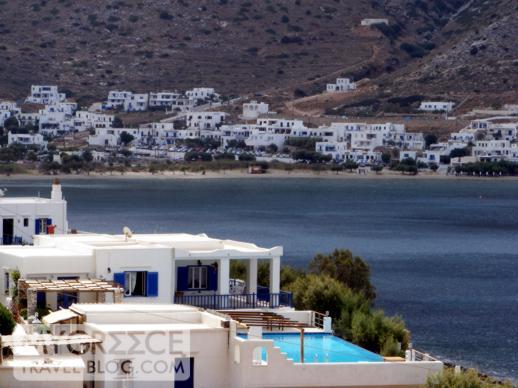 Hotel Delfini view toward Kamares