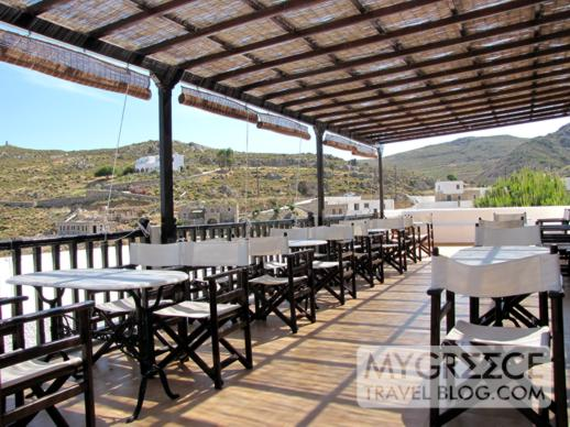 Hotel Golden Sun Patmos breakfast terrace