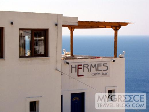 Hotel Hermes seaview cafe and bar deck